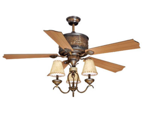 "Menards Bathroom Fans turn of the century® yellowstone 56"" aged walnut rustic and lodge"