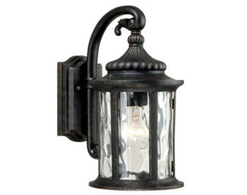 Patriot lighting valencia gold stone 12 outdoor wall light at menards