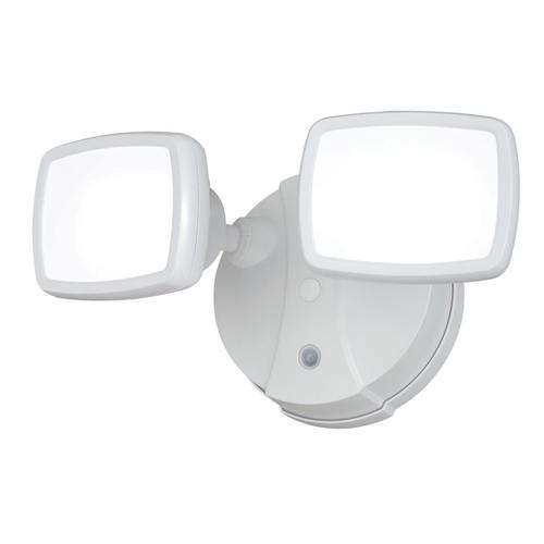 Patriot Lighting® White LED Dual Head Dusk-to-Dawn Outdoor