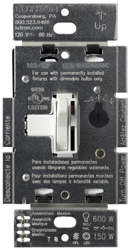 Lutron Toggler 1 25 Amp 1 Pole Dimmer Switch At Menards