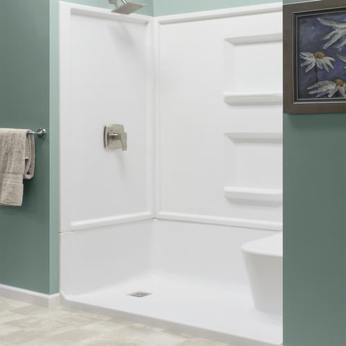 Lyons Linear 60 W X 32 D Seated Shower Base With Left Drain At Menards