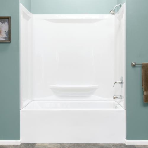 Lyons Linear 60 W X 36 D X 59 H White Smooth Bathtub Surround 3 Piece At Menards