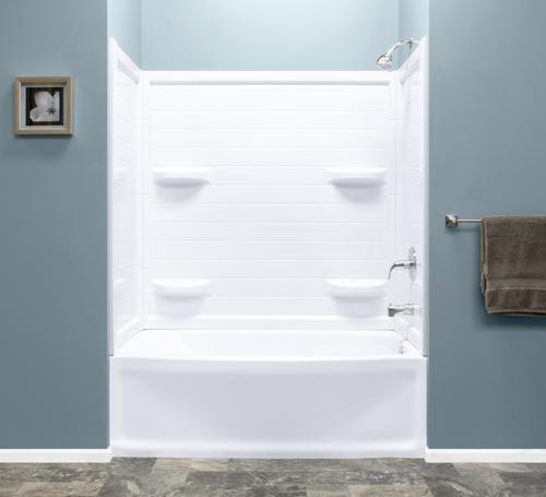 Lyons Contour 60 W X 32 D 4 Piece Bathtub Shower Kit At Menards