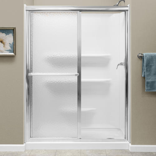 Lyons 54 Quot W X 68 Quot H Framed Sliding Shower Door At Menards 174
