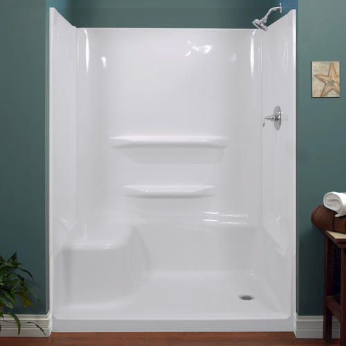 Shower Base And Walls Kit.Lyons Elite 60 X 32 X 78 Right Left Hand Seated Shower