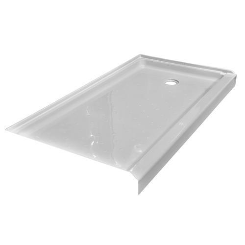 54 Inch Shower Pan.Lyons Elite 54 X 27 X 3 1 2 Right Hand Drain Shower Base