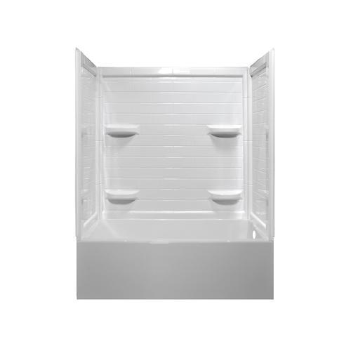 Lyons Linear 60 W X 32 D 4 Piece Bathtub Shower Kit With 4 Shelves At Menards