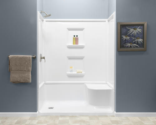 Lyons Linear 60 X 32 X 78 Left Drain Seated Shower At Menards