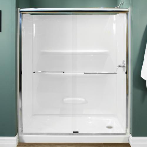 Lyons 60 W X 72 H Framed Sliding Shower Door At Menards