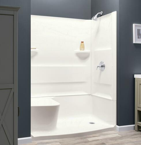 Lyons Triumph 60 W X 32 D Seated Shower Base With Right Drain At Menards