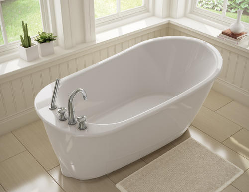 Elegant MAAX Sax 60 W X 32 D Freestanding Bathtub With Reversible Drain At Menards. Freestanding  Tub With Deck Mount Faucet.
