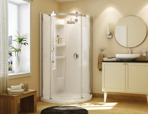 Maax 174 Olympia 36 Quot X 36 Quot X 77 Quot White Round Shower Kit