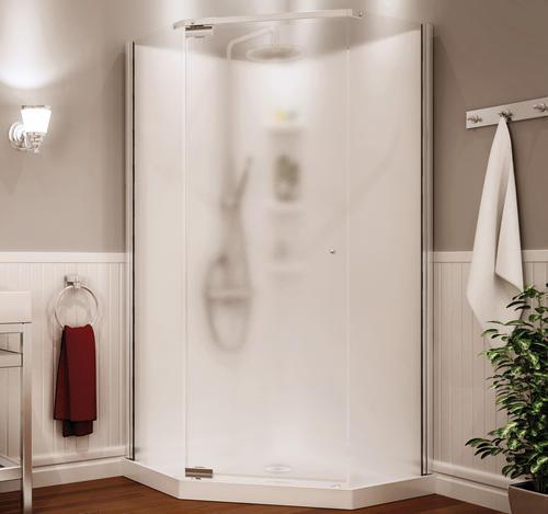 neo angle corner shower kits.  MAAX Begonia 36 Neo Angle Shower Kit Vapor Glass at Menards