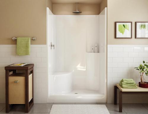 MAAX Evergreen 1-Piece Shower (LH Seat, Center Drain) at Menards®