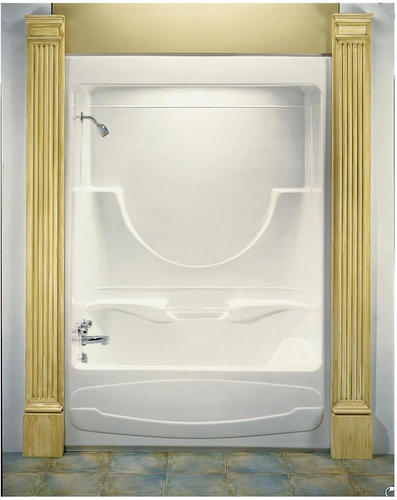 MAAX Figaro I - 1-Piece Tub Shower Micro-Jet - AFR - Left Drain at ...