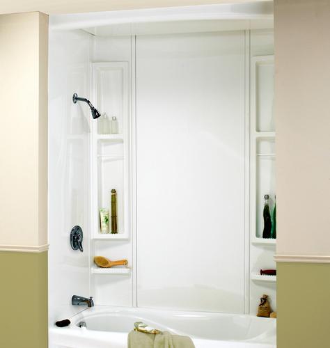 """maax® finesse 60"""" x 32"""" bathtub wall surround at menards®"""