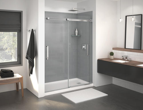 Maax Inverto 59 W X 74 H Semi Frameless Sliding Shower Door