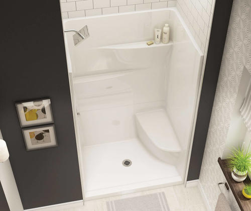 Maax Gallery 48 W X 75 H 34 D White Seated Shower With