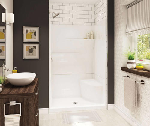Maax Gallery 48w X 75h X 34d White Seated Shower With Center