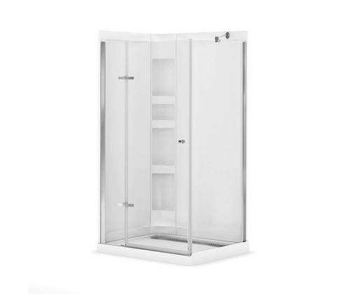 Shower Base And Walls Kit.Maax Athena 42 X 34 Corner Door Shower Kit With Base And