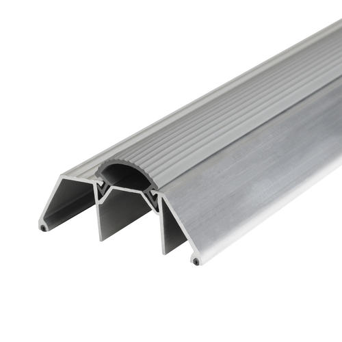 "M-D Deluxe Custom Size 3-3/4"" Wide x 1-1/2"" High x  85-5/8"" Long Extra-High Aluminum Threshold with Vinyl Seal"