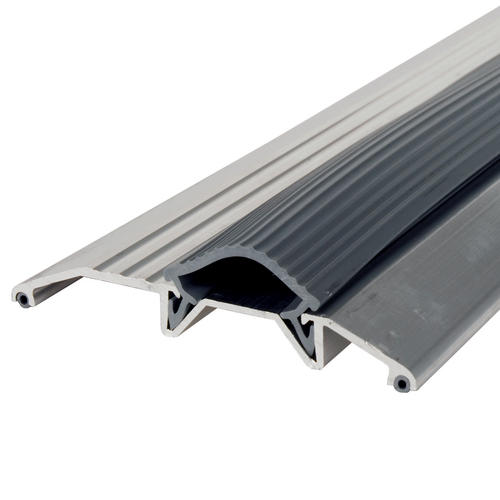 "M-D Custom Size 68-1/16"" Long Deluxe Low-Profile Aluminum Threshold with Vinyl Seal"