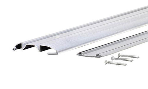 """M-D Custom Size 3-3/8"""" Wide x 3/4"""" High x  53-3/16"""" Long Standard-Duty Low Aluminum Threshold with Vinyl Seal"""