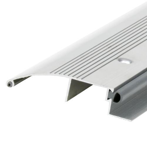 "M-D Custom Length Low 3-1/2"" Wide x 3/4"" High x 86-13/16"" Long Bumper Aluminum Threshold"