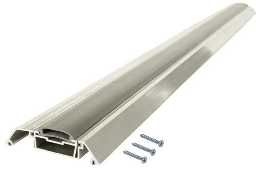 "M-D Custom Length 54-9/16"" Long x 3-1/2"" Wide x 7/8"" High Adjustable Aluminum Threshold with Vinyl Seal"