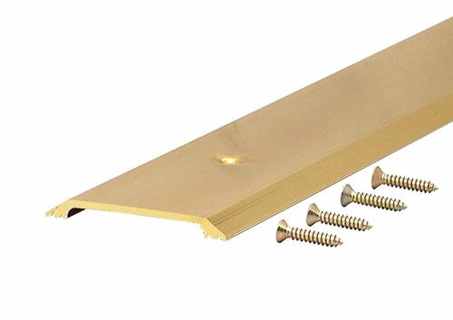 "M-D Custom Size Flat Top Brite Gold Aluminum Threshold 2-1/2"" Wide x 1/4"" High x  42-1/2"" Long"