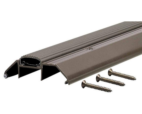 """M-D Custom Size Deluxe High Bronze Aluminum Threshold with Vinyl Seal 3-3/4"""" Wide x 1-1/8"""" High x  27-9/16"""" Long"""