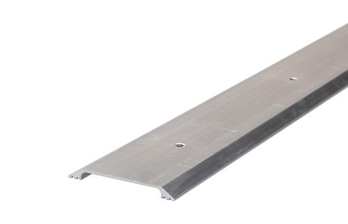 "M-D Custom Size 2-1/2"" W x 1/4"" H x 65-15/16"" Long Smooth Flat Top Aluminum Saddle Threshold"