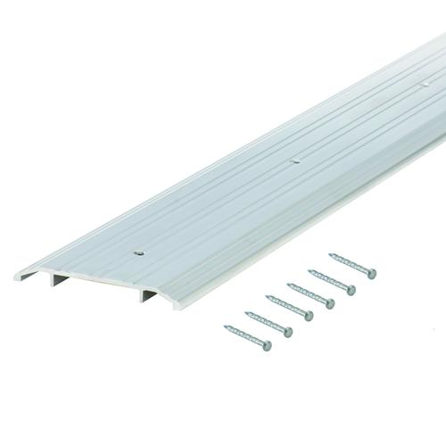 "M-D Custom Size Heavy-Duty Fluted Top Commercial Aluminum Threshold 81-3/4"" Long"
