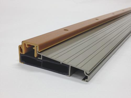 "M-D Custom Size Adjustable Height Satin Nickel Aluminum Threshold 4-9/16"" Wide x 1-5/8"" High x 23-15/16"" Long"