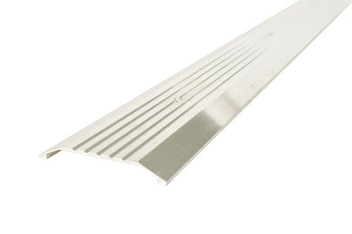 """M-D Custom Size Fluted Saddle Aluminum Commercial Threshold 4"""" Wide x 1/4"""" High x 74-3/16"""" Long"""