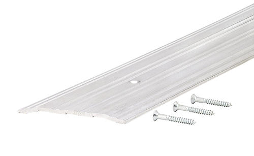 """M-D Custom Size Mill Aluminum Fluted Saddle Commercial Threshold 5"""" Wide x 1/4"""" High x 68-7/16"""" Long"""