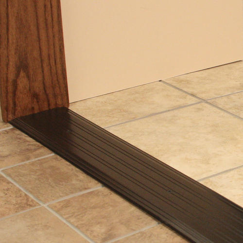 """M-D Custom Size Fluted Saddle Bronze Aluminum Commercial Threshold 5"""" Wide x 1/4"""" High x 26-3/16"""" Long"""