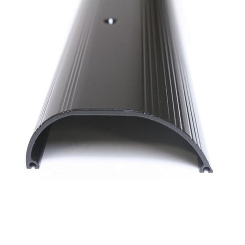 "M-D Custom Size Aluminum Bronze Extra High Dome Threshold 44-9/16"" Long"