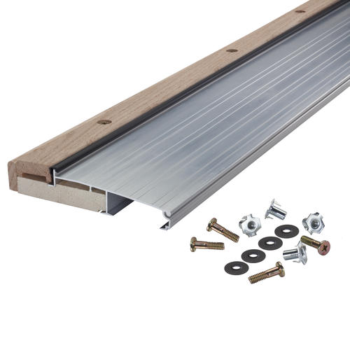 "M-D Custom Size Aluminum and Hardwood Adjustable Inswing Sill 5-5/8"" Wide x 1-1/8"" High x  78-7/8"" Long"