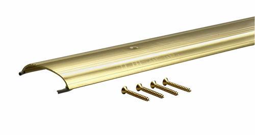 "M-D Custom Size Low Dome Top Brite Gold Aluminum Threshold 3-1/2""W x 5/8""H x 79-5/16"" Long"