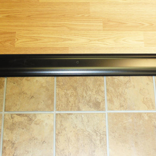 "M-D Custom Size Low Dome Top Bronze Aluminum Threshold 3-1/2""W x 5/8""H x 75-5/8"" Long"