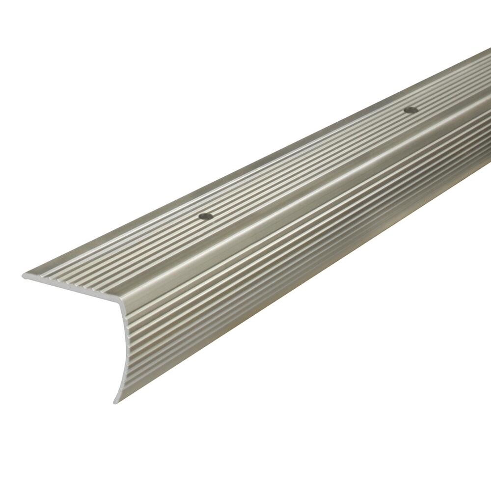 M-D Building Products 43310 M-D Fluted Stair Edging Transition Strip Aluminum quot 1x1 36 in L Prefinished Satin Nickel Pack of 2