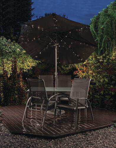 Patriot Lighting 4 8 3 8 72 Light Solar Powered Umbrella Led String Light At Menards