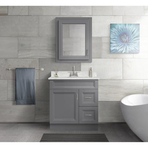 "Magick Woods Elements Stratton 30""W x 21""D Gray Bathroom ..."
