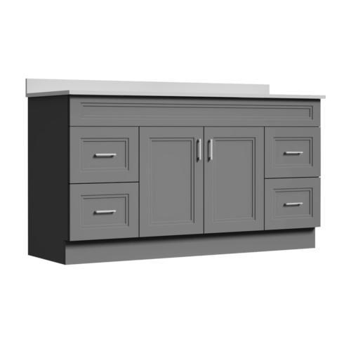 Magick Woods Elements Stratton 60 W X 21 D Gray Bathroom Vanity Cabinet At Menards