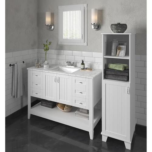 Magick Woods Elements Newhaven 48 W X 21 D Matte White Bathroom Vanity Cabinet At Menards