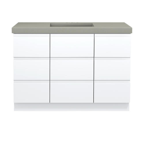 Magick Woods Elements Geneva 48 W X 21 D High Gloss White Bathroom Vanity Cabinet At Menards