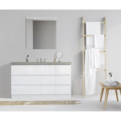 Strange Magick Woods Elements Geneva 60W X 21D High Gloss White Beatyapartments Chair Design Images Beatyapartmentscom