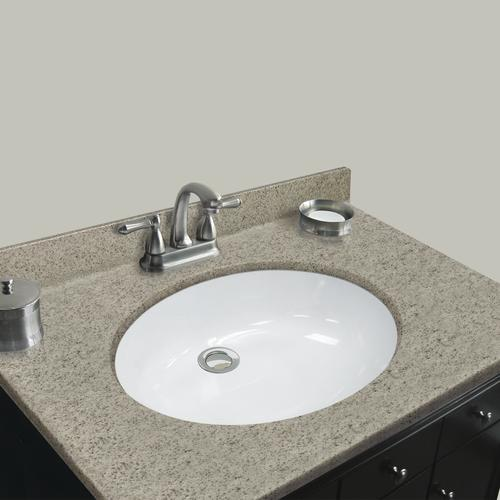 Magick Woods Elements 31 W X 19 D Cappuccino Cultured Marble Vanity Top With Oval Integrated Bowl At Menards