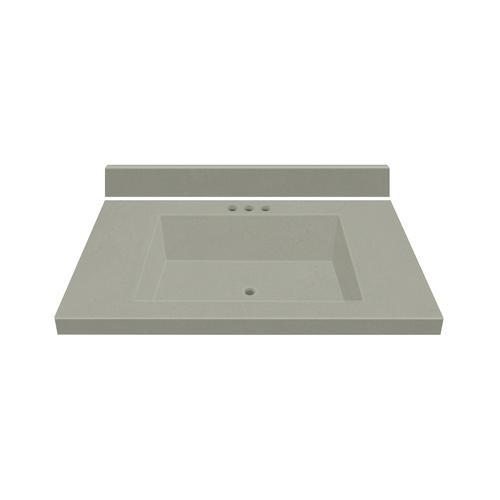 Magick Woods Elements 31 W X 22 D Gray Mist Cultured Marble Vanity Top With Rectangular Integrated Bowl At Menards